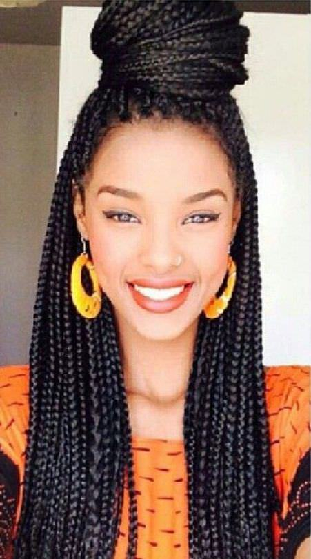 box braid with top knot braids updo hairstyles