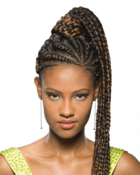 braided ponytail french braids for black women
