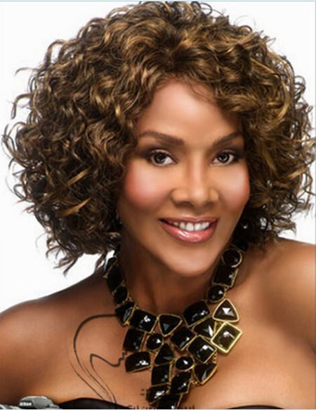 brown curly hair with highlights short haircuts for women