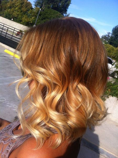 brown to blonde ombre hair ideas for cropped locks