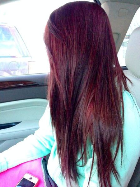 cherry coca cola red ombre hair