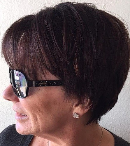 chic chocolate hairstyles for older women