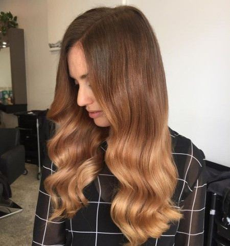 chocolate fade winter hair colors