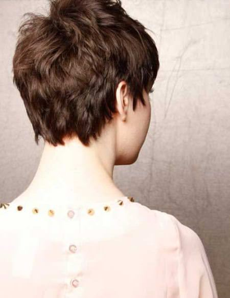 choppy dark brown choppy pixie cuts