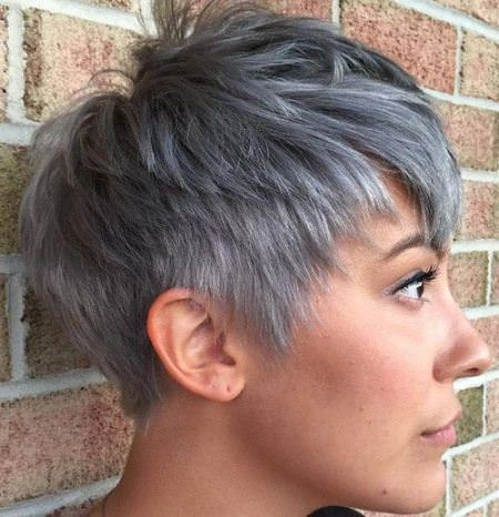 choppy gray choppy pixie cuts