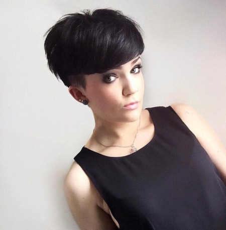 choppy pixie cuts with temple undercuts