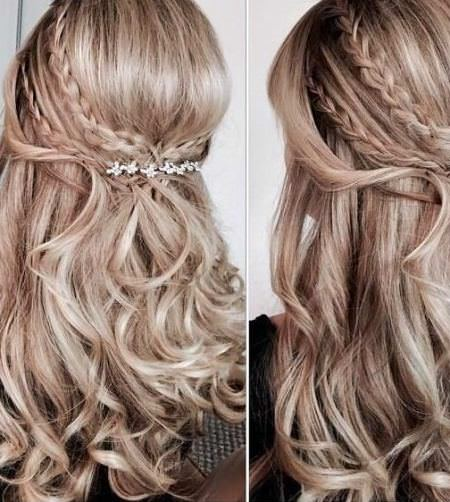 classic half braid hairstyles for straight hair