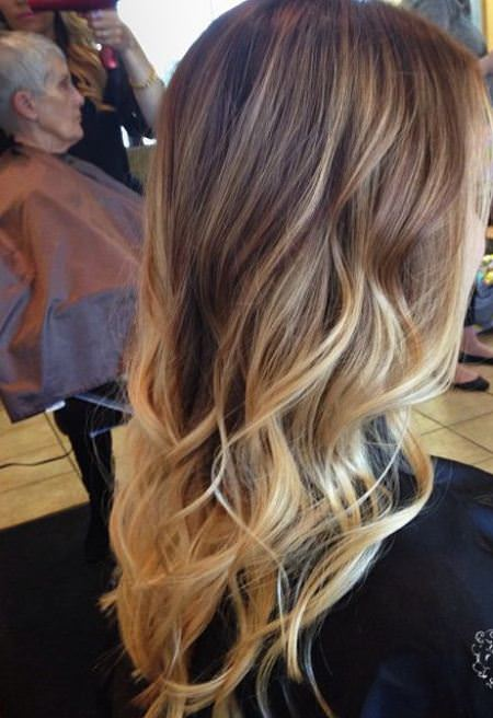 colorful long hair stylish ombre straight hair