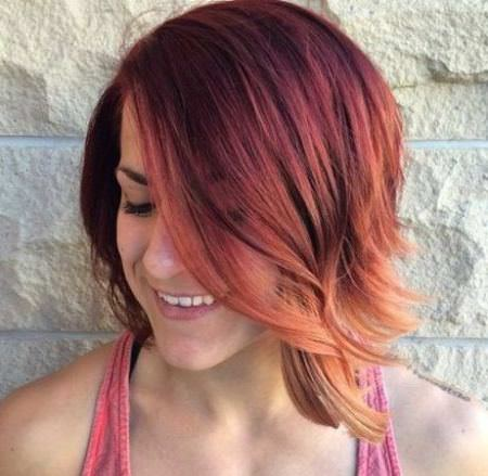 copper short ombre hair ideas for cropped locks
