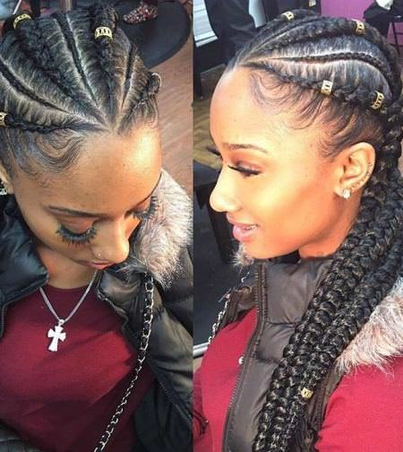 cornrows with ghana braid french braids for black women