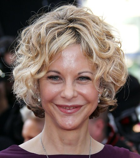 curly blonde bob short hairstyles for women