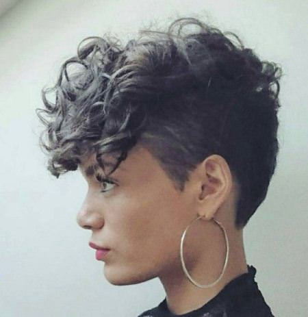 curly top choppy pixie cuts