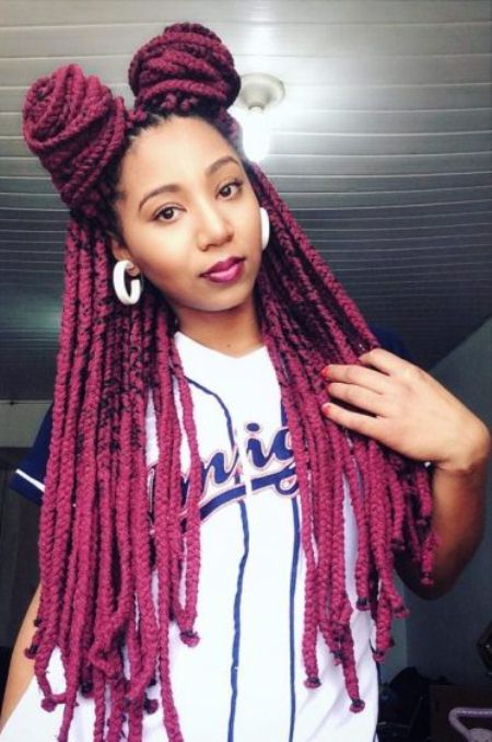 double and trouble box braids updo hairstyles