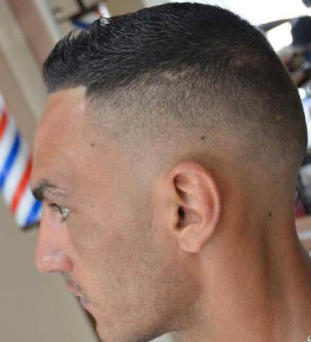 faded high and tight short hairstyles for men