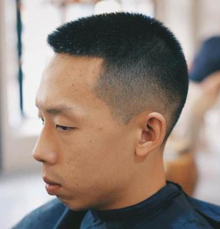 faded sides buzz cuts different lengths