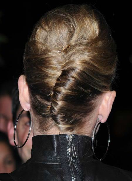french twist Updo hairstyles for short hair