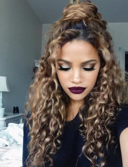 half top knot medium curly hairstyles for every occasion