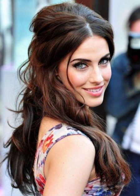half updo hairstyles for thick hair