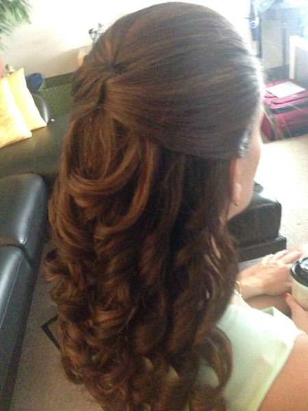 half updo medium curly hairstyles for every occasion
