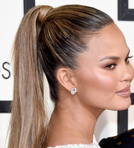 high ponytail hairstyles for straight hair