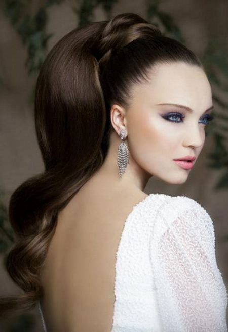 high ponytail hairstyles for thick hair