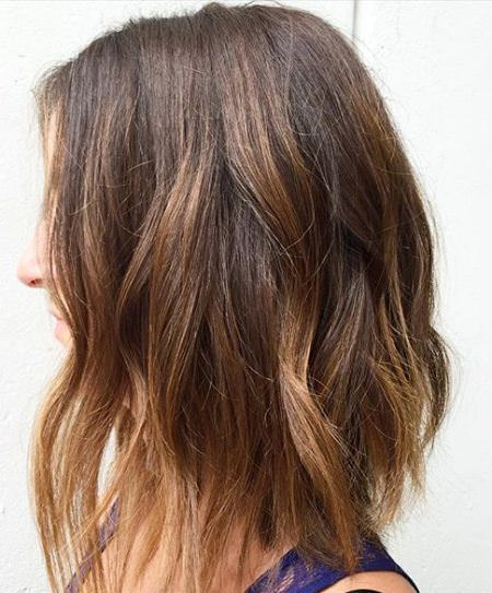 highlighted angles stylish ombre straight hair