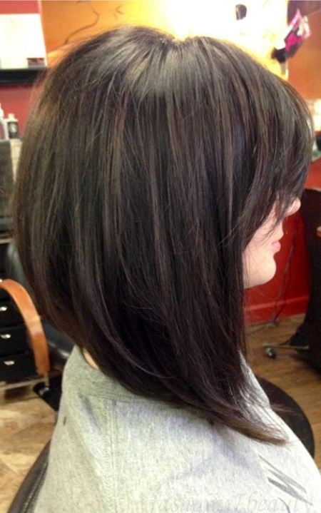 inverted bob haircut for medium length hair