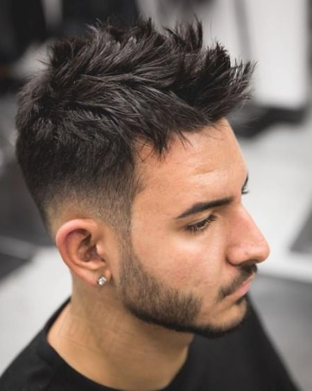 layered faux hawk haircuts for men