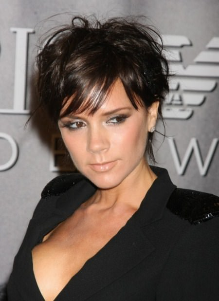 layered pixie with edgy fringe short hairstyles for women