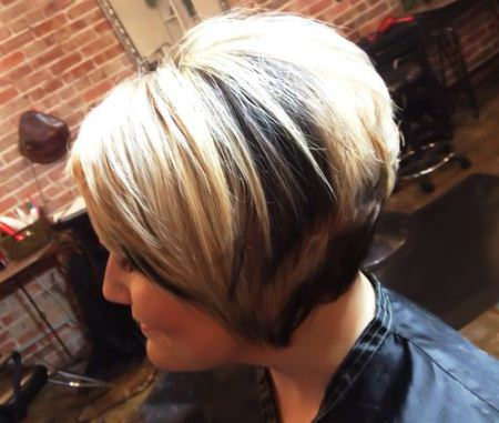 light and dark inverted bob haircut