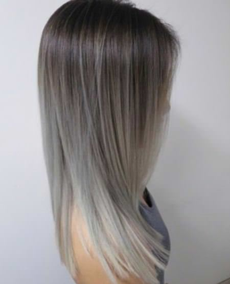 long silver ombre ash blonde and silver ombre