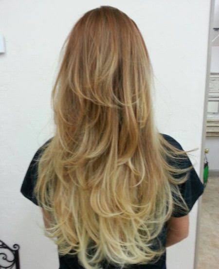 lovely layers stylish ombre straight hair