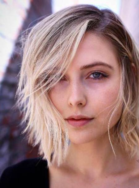 medium hair with side part hairstyles for thin hair