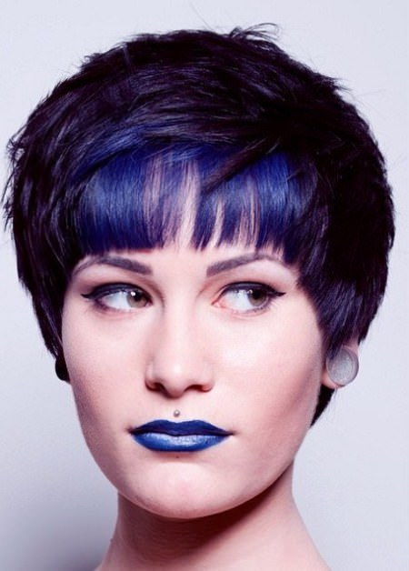 memorabel midnight blue haircuts for short spiky haircuts for women