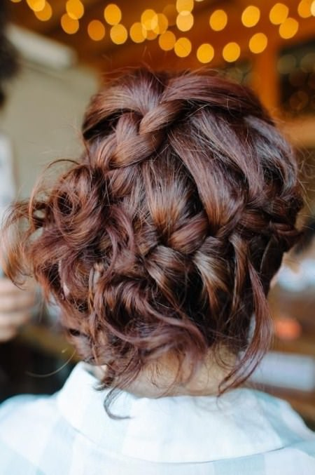 messy braided Updo valentines day hairstyles