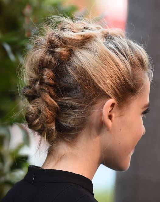 messy faux braid hairstyles for straight hair