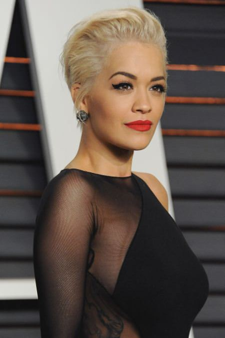 messy swooped back hairstyles for short hair