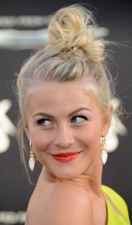 messy top knot updo hairstyles for short hair