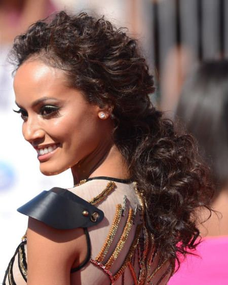 natural curls pulled back black ponytail hairstyles