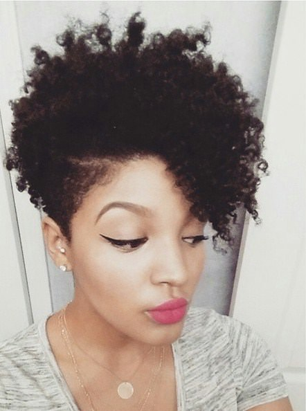 natural hairstyle with closely clipped natural hairstyles for short hair