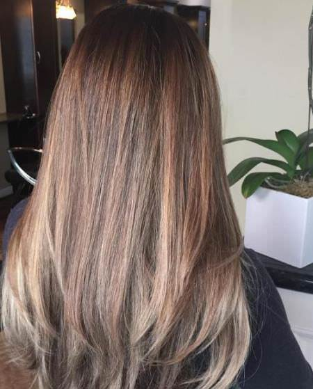 natural looking ombre straight hair