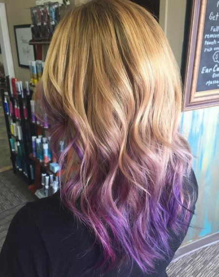 ombre hair with lavender tips short ombre hair ideas for cropped locks