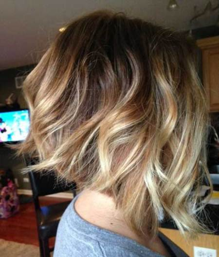 ombre inverted bob haircut