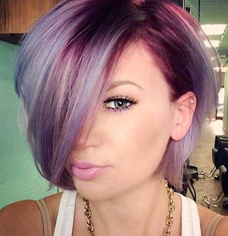 purple short ombre hair ideas for cropped locks