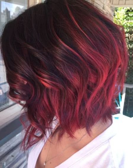 red toned short ombre hair ideas for cropped locks