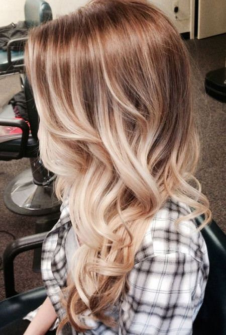 shades of blonde stylish ombre straight hair