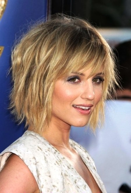 short chopped hairstyle with bangs short hairstyles for women