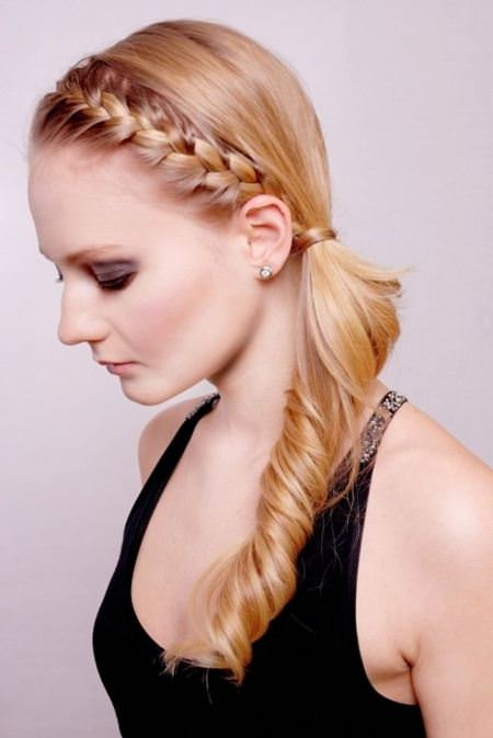 side braided ponytail christmas and new year eve hairstyles