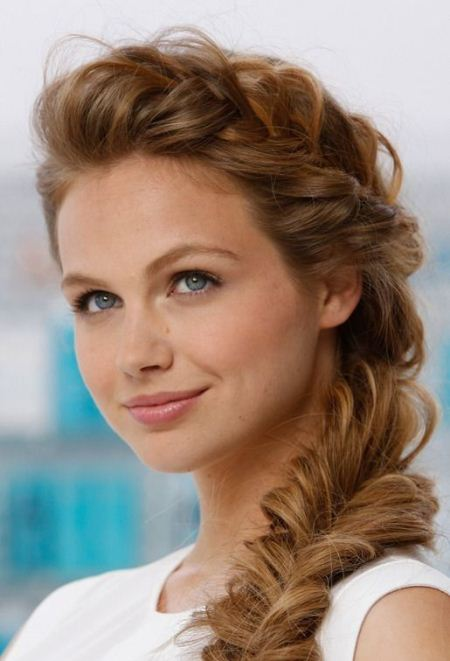 side fishtail braid christmas and new year eve hairstyles
