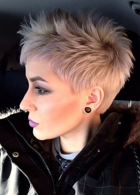 spiked choppy pixie cuts